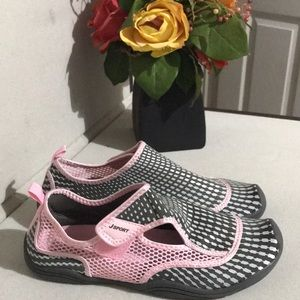 a6720448e8a1e2 J Sport Shoes - J Sports Water 💦 Shoes Mermaid Petal Gray  Pink